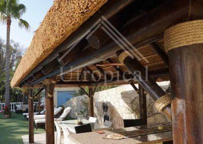 Diseño tropical Zona para comer cenar desayunar tejado tropical