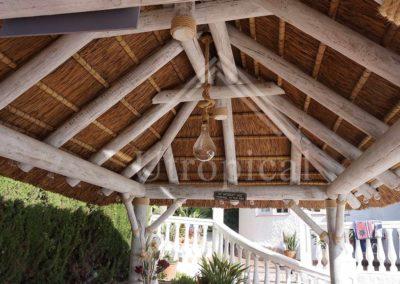 techo tropical pergolas suelos Malaga Marbella