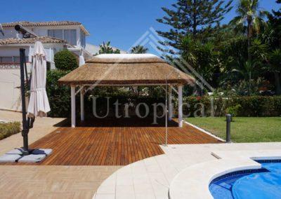 tejado tropicales de junco pergolas
