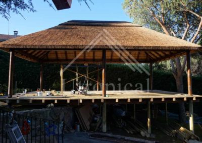 estructura tropical techo junco Marbella Mijas Malaga