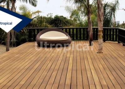 Instalación suelo de madera en terraza