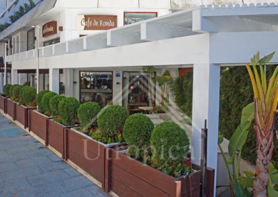 Construcción y diseño de pérgolas de madera en málaga Marbella