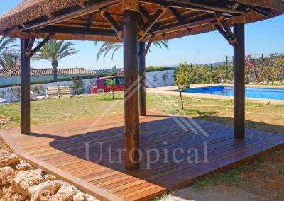 Cenador tropical instalación en Malaga Marbella Mijas