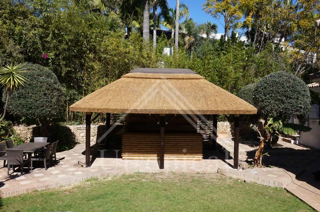 tejado tropicales de junco
