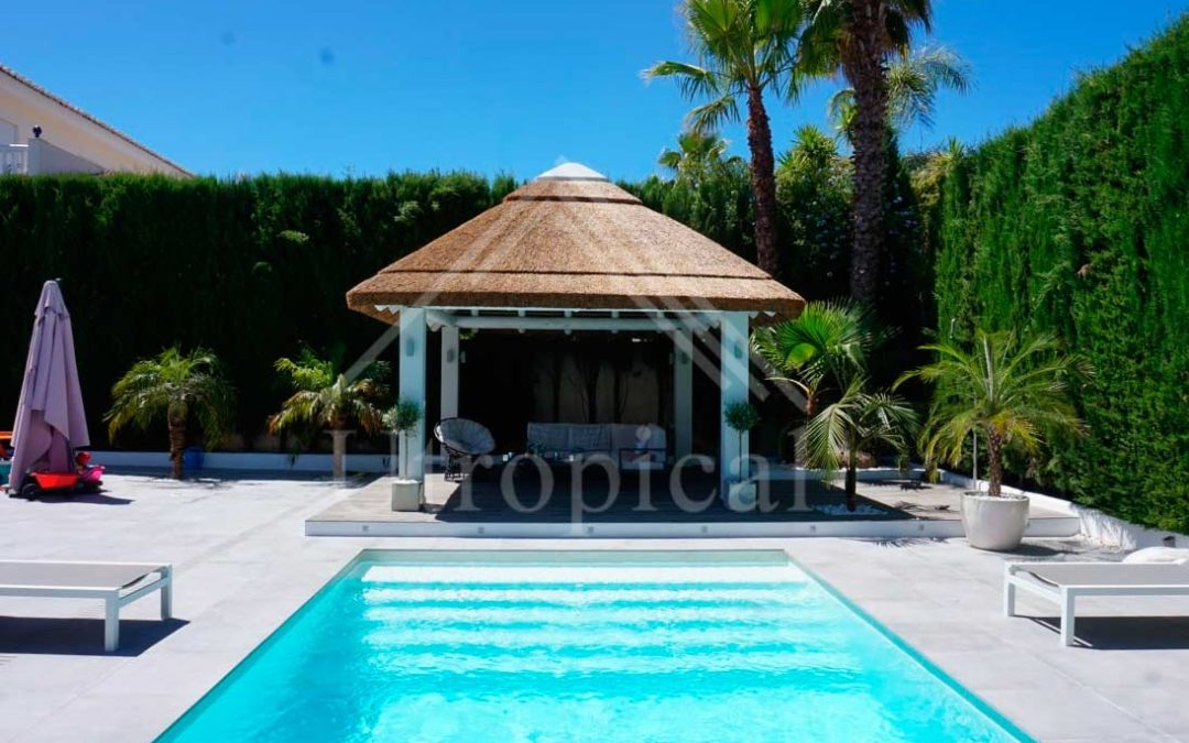 Gazebo project with electrical installation