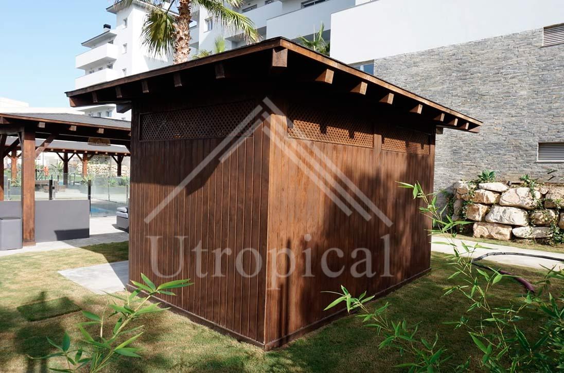 Tejado de pizarra exterior estructura tropical