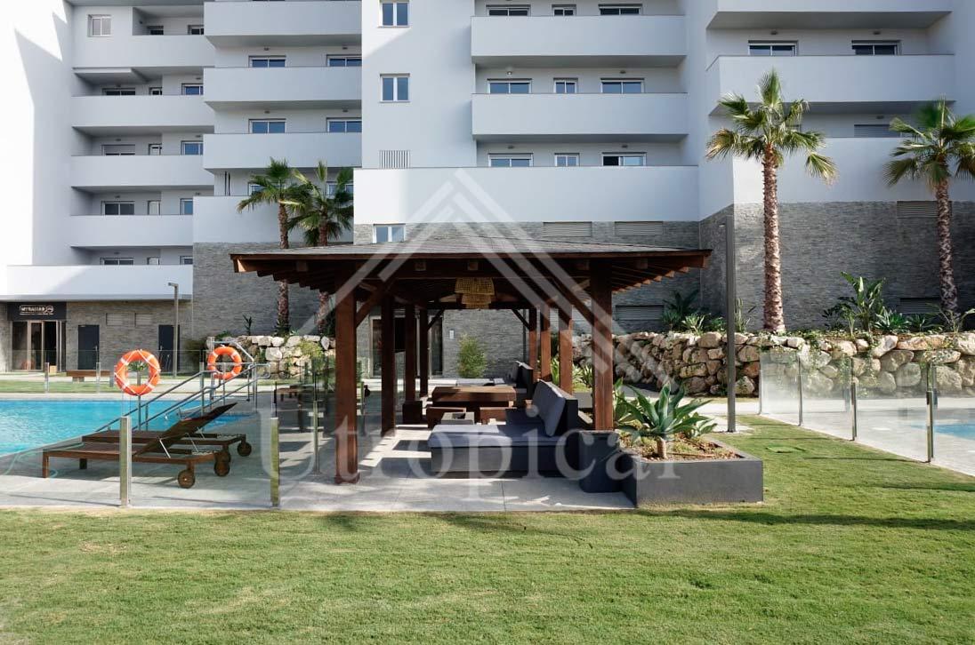 Cenador de madera para urbanización Miramar Fuengirola