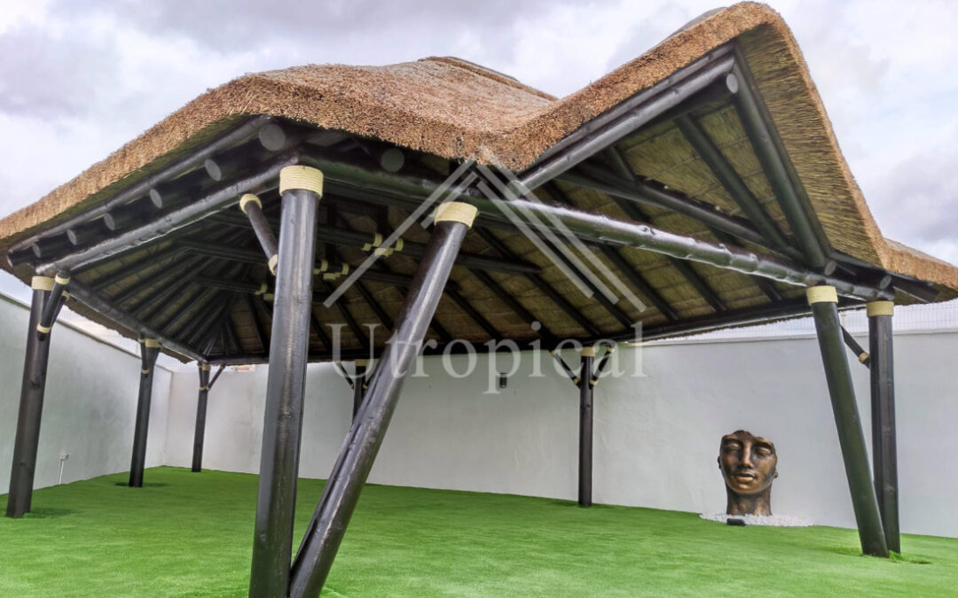 African reed roof cover design in Murcia